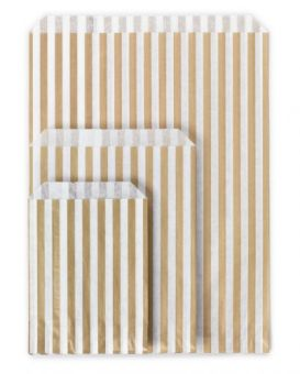 Striped Paper Bags – Small (5″ x 7″) Image