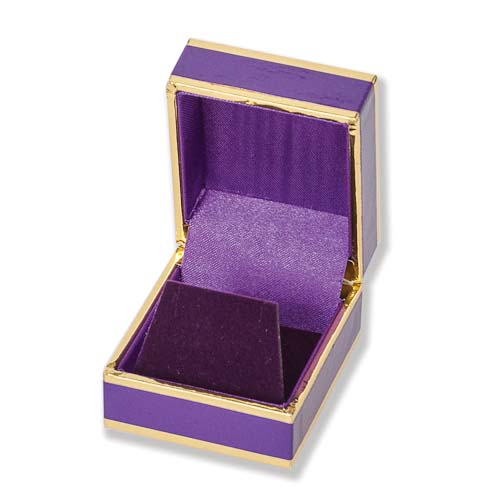 Monza Purple/Gold Earring Boxes Image