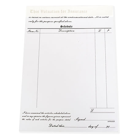 Valuation Form Image