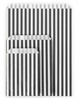 Striped Paper Bags – Medium (7″ x 9″) Image